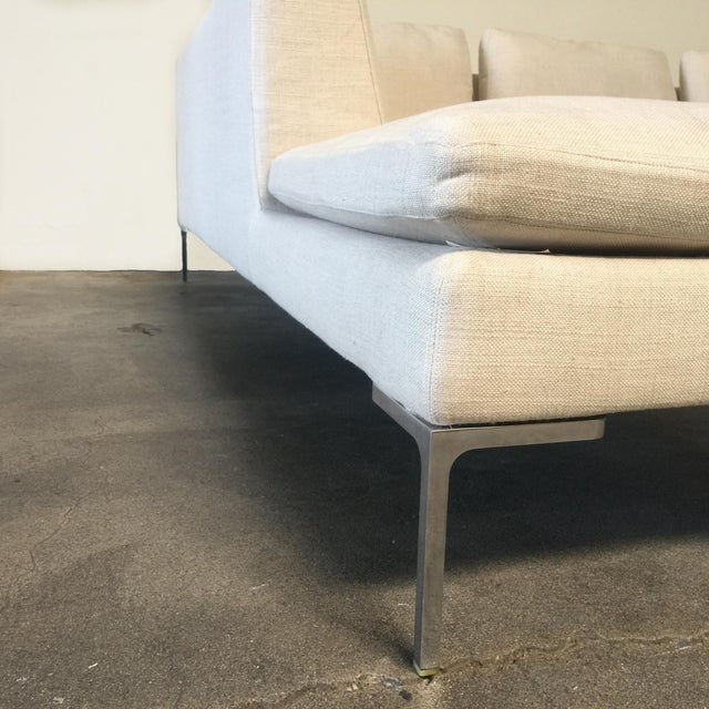 Antonio Citterio B&B Italia 'Charles' Sofa For Sale In Los Angeles - Image 6 of 9