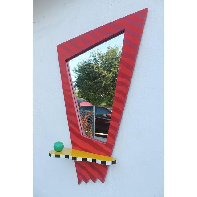 1993 Vintage Thor Memphis Style Pop Art Wall Mirror Chairish