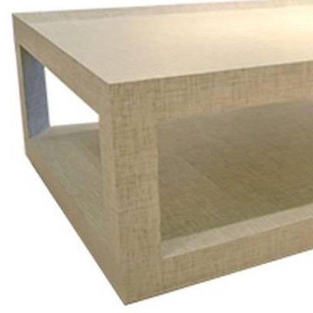 Features: Custom Wrapped Frame Fabric: Mitsu Weave in Pearl Fabric Content: Natural Fiber Sisal Materials and Techniques:...