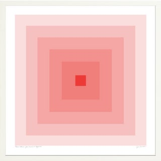 """""""Power Color 2: Your Presence Is Required (Blush to Crimson)"""" Contemporary Geometric Print by Jessica Poundstone, Framed For Sale"""