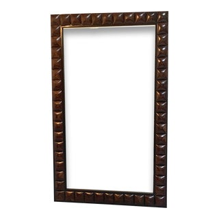 XL Kreiss Panama Cocoa Shell Bevelled Mirror For Sale
