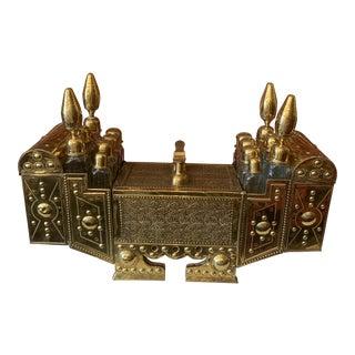 19th Century Turkish Brass Shoe Shine Valet For Sale