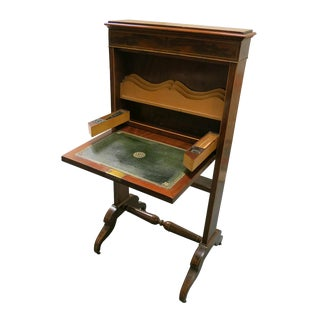 Early 19th Century Vintage English Mahogany Small Folding Desk For Sale