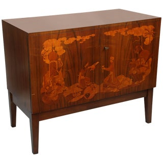 Fine Inlaid Swedish Side Cabinet For Sale