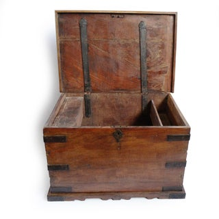 Antique Wood Trunk Preview