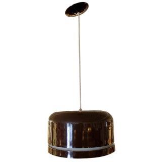 1960s Mid Century Modern Brown Lightolier Hanging Ceiling Light Fixture Chandelier For Sale