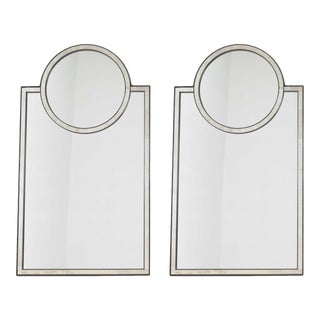 Pair of Mosaic Mirrors by Baker Furniture For Sale