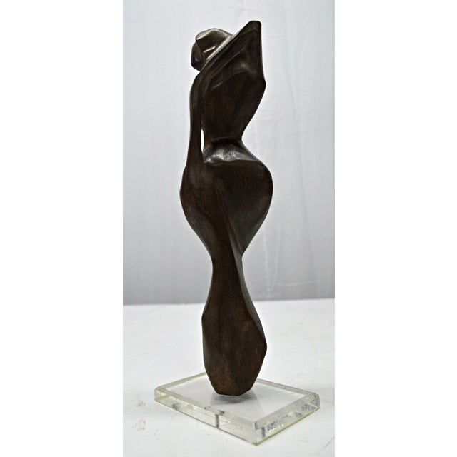 Hand Carved Wood Female Nude Sculpture - Image 5 of 11