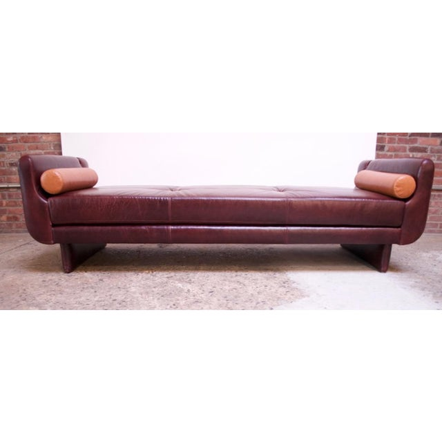 Leather 'Matinee' Sofa / Daybed by Vladimir Kagan For Sale - Image 9 of 13