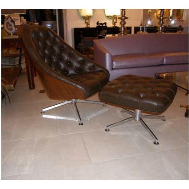 Milo Baughman Chair and Ottoman Set - Image 2 of 5