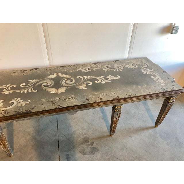 Hand Painted Dining Table For Sale - Image 4 of 6