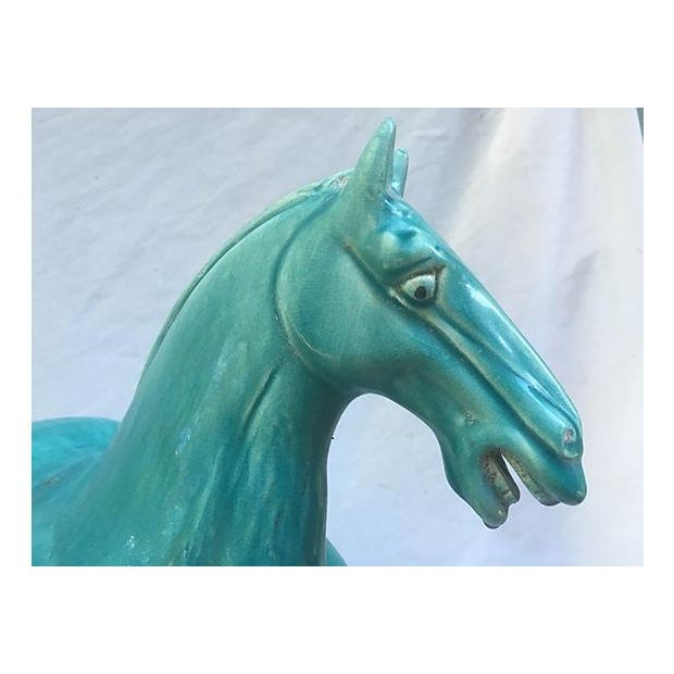 Chinese Tang-Style Turquoise Horse - Image 6 of 6