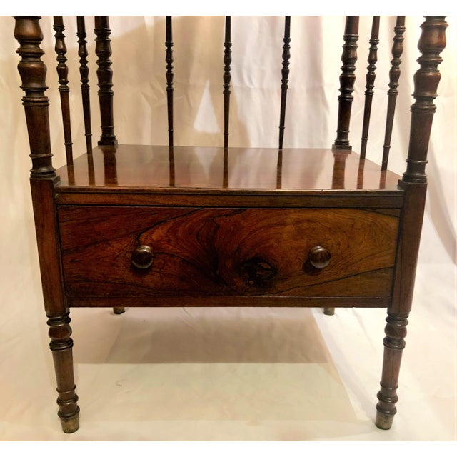 Mid 19th Century Antique English Rosewood 4 Tier Etagere, Circa 1850. For Sale - Image 5 of 6