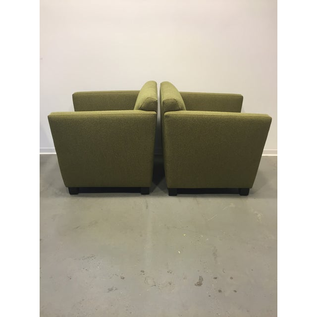Green Club Chairs - Pair - Image 4 of 7
