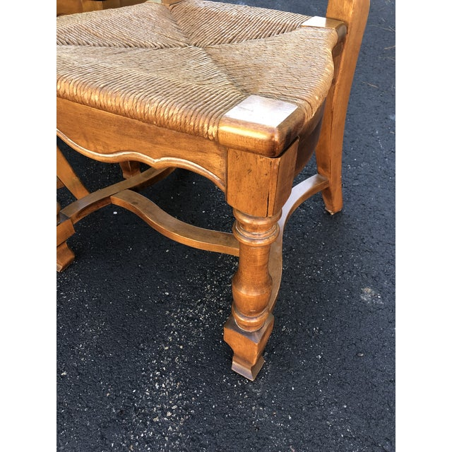 Ethan Allen 1970s Vintage Ethan Allen French Country Ladderback Chairs- Set of 6 For Sale - Image 4 of 10