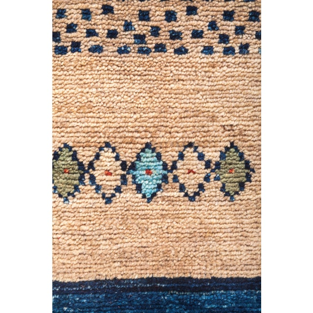 "Tribal Hand Knotted Area Rug - 6' 6"" X 9' 9"" - Image 3 of 4"