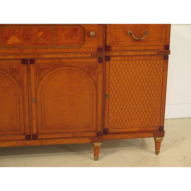 Italian Inlaid Walnut Sideboards - A Pair - Image 4 of 11
