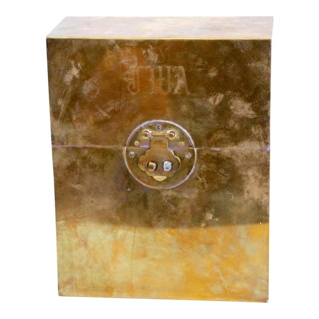 Monogrammed Brass Letter Box For Sale