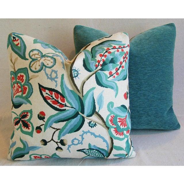 Schumacher Alexandra Floral Velvet Pillows - a Pair - Image 8 of 10