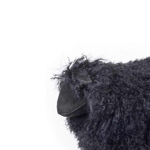 Contemporary Tibetan Medium Black Sheep For Sale - Image 3 of 5