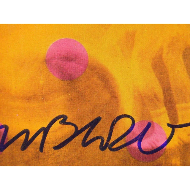 1980s Robert Rauschenberg 1981 Moderna Museet Exhibition Poster Signed For Sale - Image 5 of 7