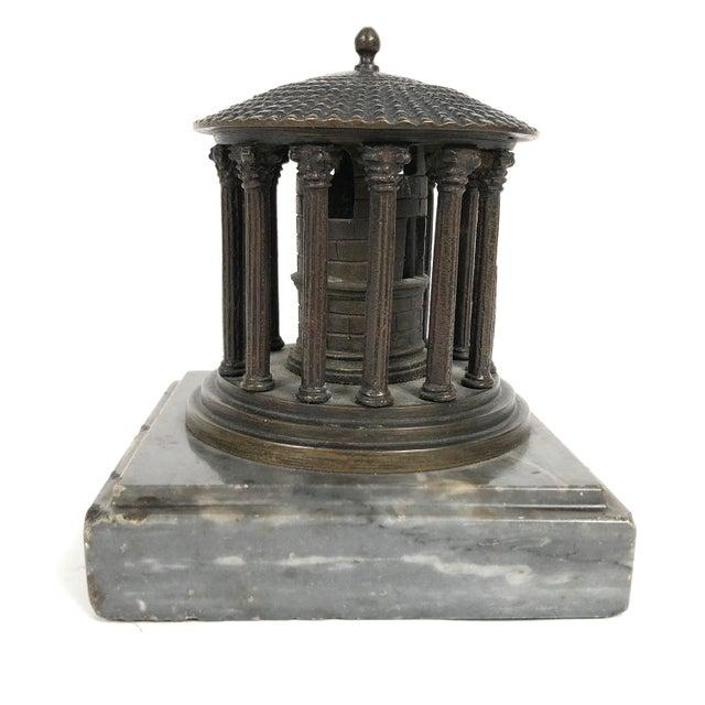 19th Century Neoclassical Grand Tour Bronze Model of the Temple of Vesta, Rome For Sale In Boston - Image 6 of 8