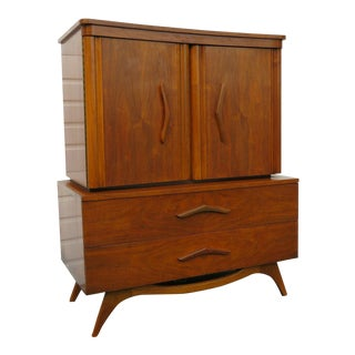 Mid Century Modern Curved Top Chest of Drawers For Sale