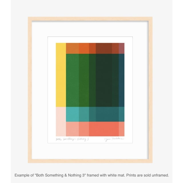 """Mid-Century Modern Jessica Poundstone """"Both Something & Nothing 3"""" Abstract Art Print For Sale - Image 3 of 5"""