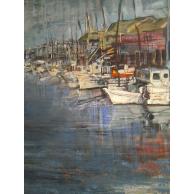 Mid-Century Modern Original Oil Painting by David Isenberg For Sale - Image 3 of 6