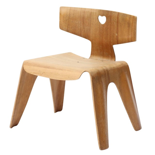 vintage eames molded plywood child chair chairish