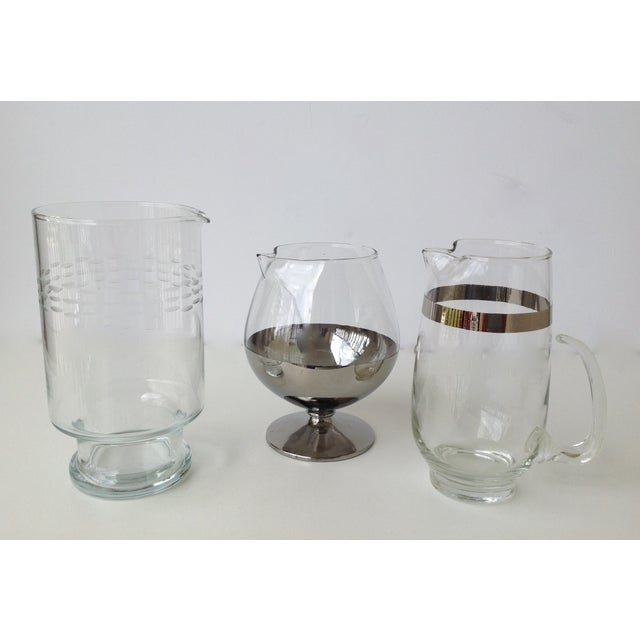 Assorted Glass & Silver Cocktail Mixers - Set of 3 - Image 6 of 10