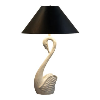 Swan Lamp in Plaster For Sale