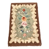 Image of Early American New England Hooked Rug - 2′1″ × 3′4″ For Sale