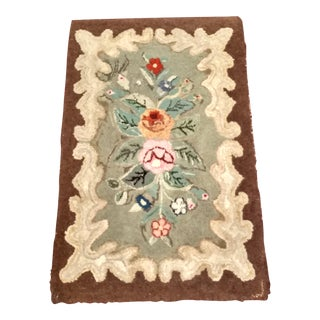 Early American New England Hooked Rug - 2′1″ × 3′4″ For Sale