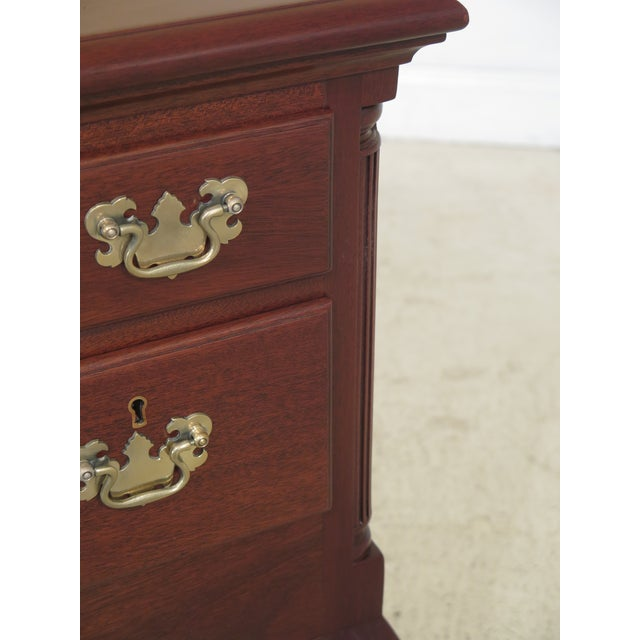 1970s Biggs Ball & Claw Chippendale Mahogany Lowboy For Sale - Image 5 of 12