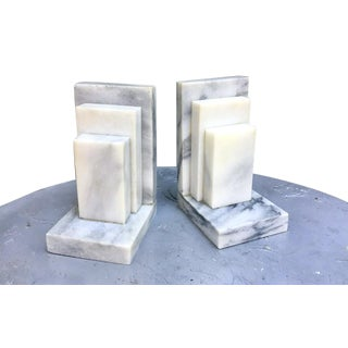 Art Deco Marble Bookends - a Pair For Sale