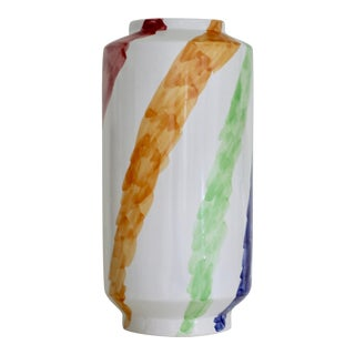 Late 20th Century Piero Dorazio Tall Ceramic Vase For Sale