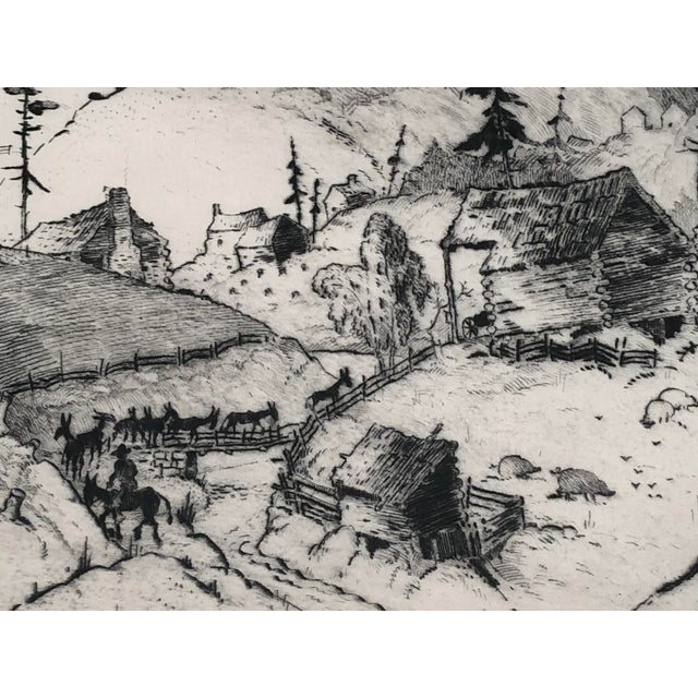 """""""Mountain Farms Near Spruce Pine, North Carolina"""" Etching by Harrison Cady For Sale - Image 10 of 13"""