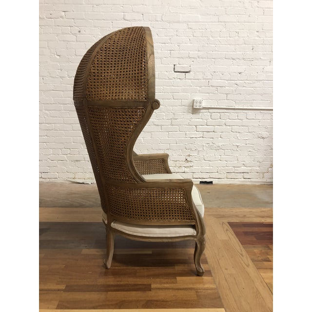 French Porters Style Balloon Caned Chair For Sale - Image 3 of 13