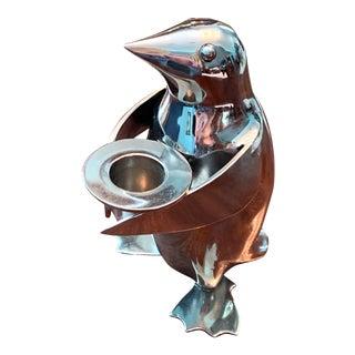 Restoration Hardware Chrome Penguin Candleholder For Sale