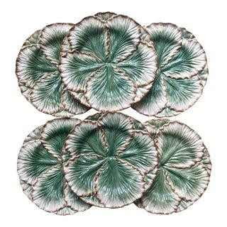 6 Fitz & Floyd Classics Cabbage Leaf Plates