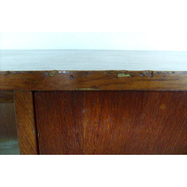 Brown 7 Ft. Mid-Century Danish Modern Teak Credenza Dry Bar Hutch For Sale - Image 8 of 12