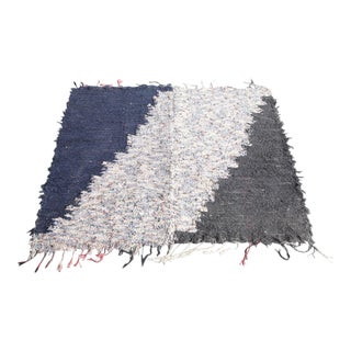 Mid 20th Century Vintage Pendleton Selvage Handwoven Rug For Sale