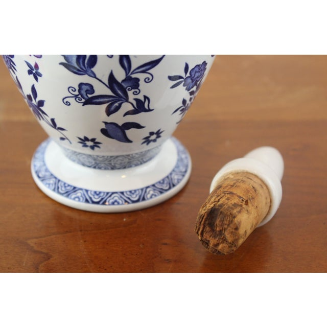 Mid 20th Century Blue and White Coalport Decanter For Sale - Image 5 of 10