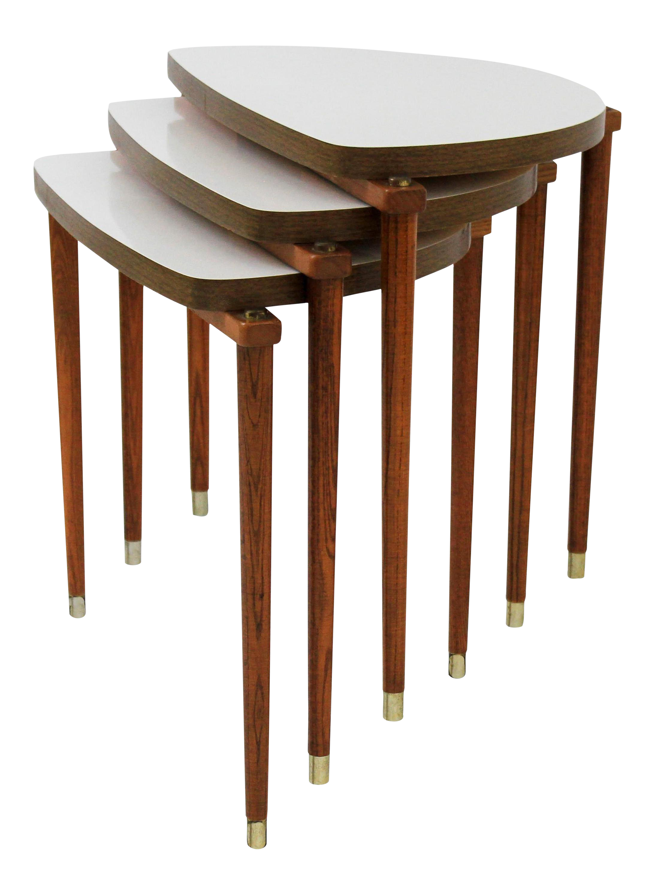 High Quality Mid Century Modern Nesting Tables Half Moon S/3   Image 1 Of 8