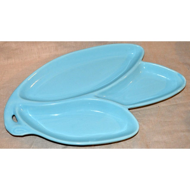 1950s Contemporary Turquoise Pottery Nut Dish For Sale In Philadelphia - Image 6 of 6