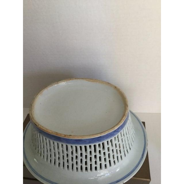 Chinese Canton Blue & White Basket - Image 7 of 7