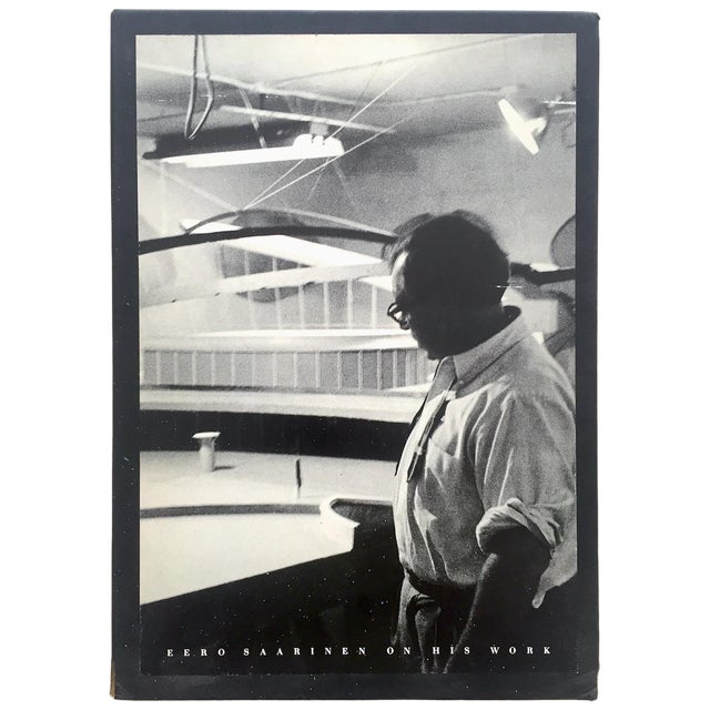 """ Eero Saarinen on His Work "" Rare Vtg 1968 Collector's Slipcase Large Hardcover Mid Century Modernism Architecture Book For Sale"