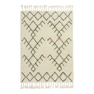 Hand-Made Rug Geometric Pattern Zara Home Shaggy Rug - 4′11″ × 6′11″ For Sale