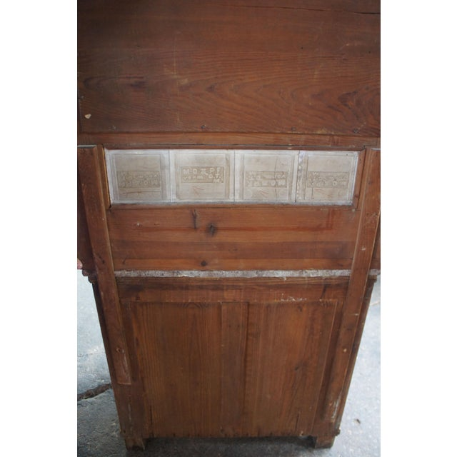 Victorian Antique Pine Marble Top Storage Cabinet For Sale - Image 4 of 13